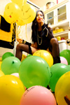 NEOICHI #150 - Asian Girl with Balloons - Night - Photography by Lon Casler Bixby - Copyright - All Rights Reserved - www.NEOICHI.com